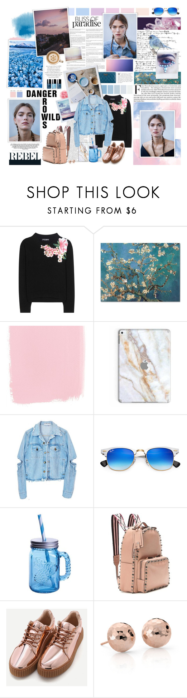 """ROSE QUARTZ /// SERENITY"" by douglasmacedo ❤ liked on Polyvore featuring Dolce&Gabbana, Ray-Ban, Fitz & Floyd, Valentino and Blue Nile"