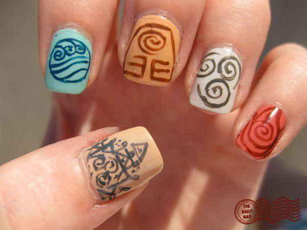 Avatar Nails Nail Art Pinterest
