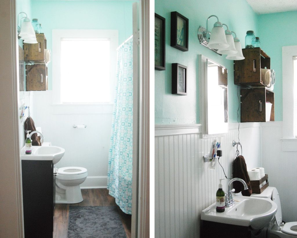Bathroom Makeover For Under $1000 nautical bathroom - simple sanctuary | our bathroom remodel for