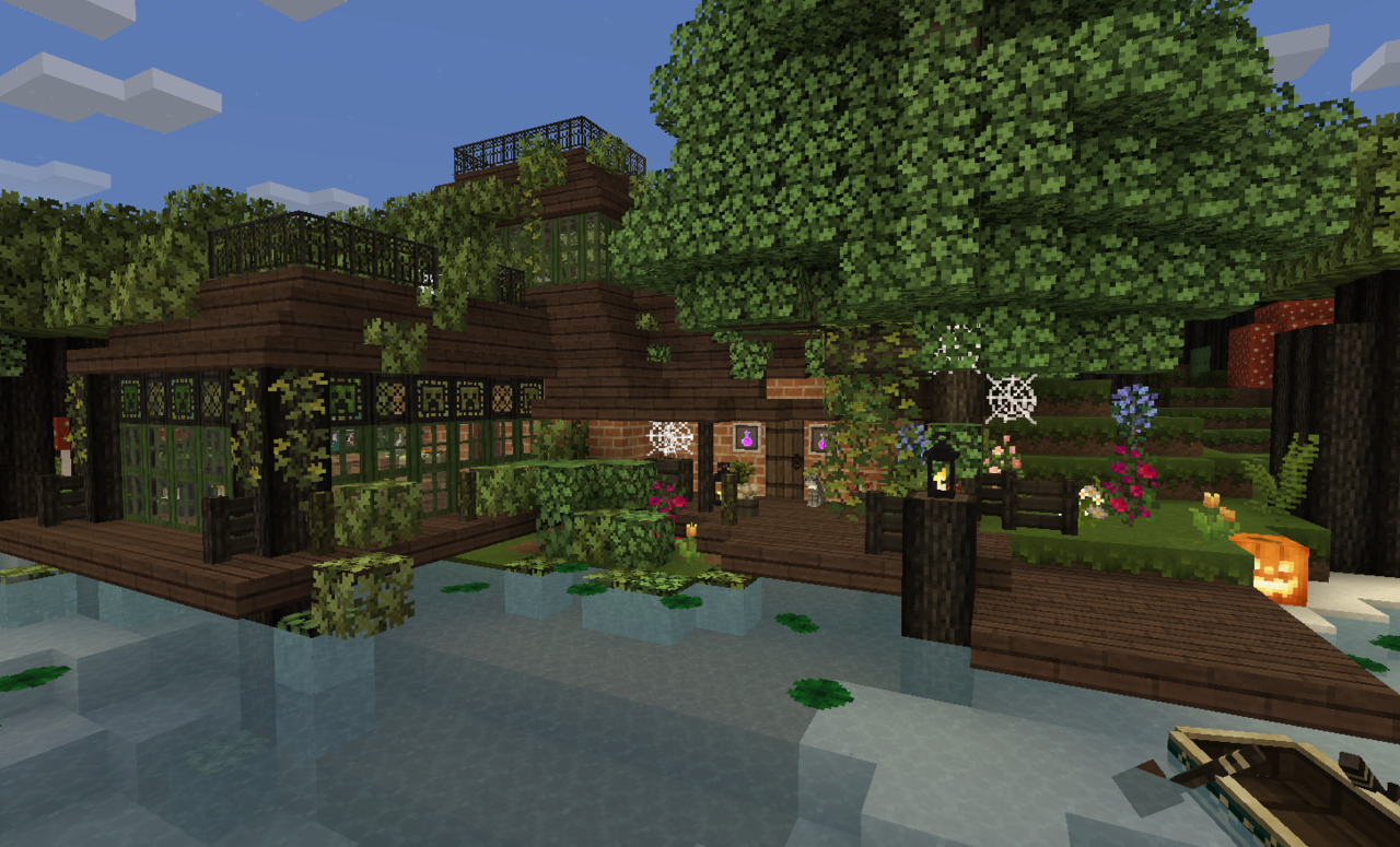 witch's house | minecraft | Witch house, Forest house, Dark
