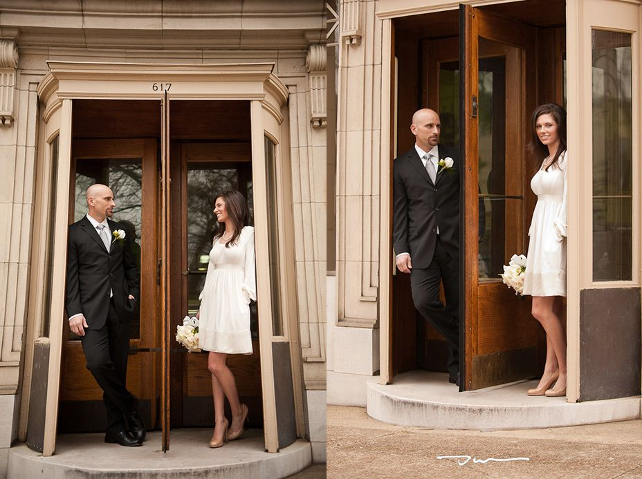 Cheap Wedding Dresses Chattanooga Tn: Portraits After Their Courthouse Wedding In Downtown