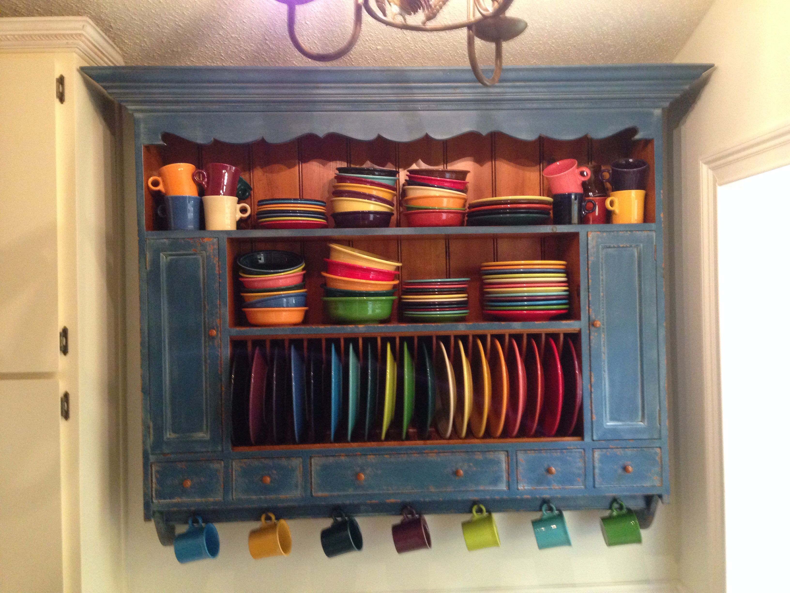 Finally found the perfect plate rack (Chalon) for my Fiesta Ware ...