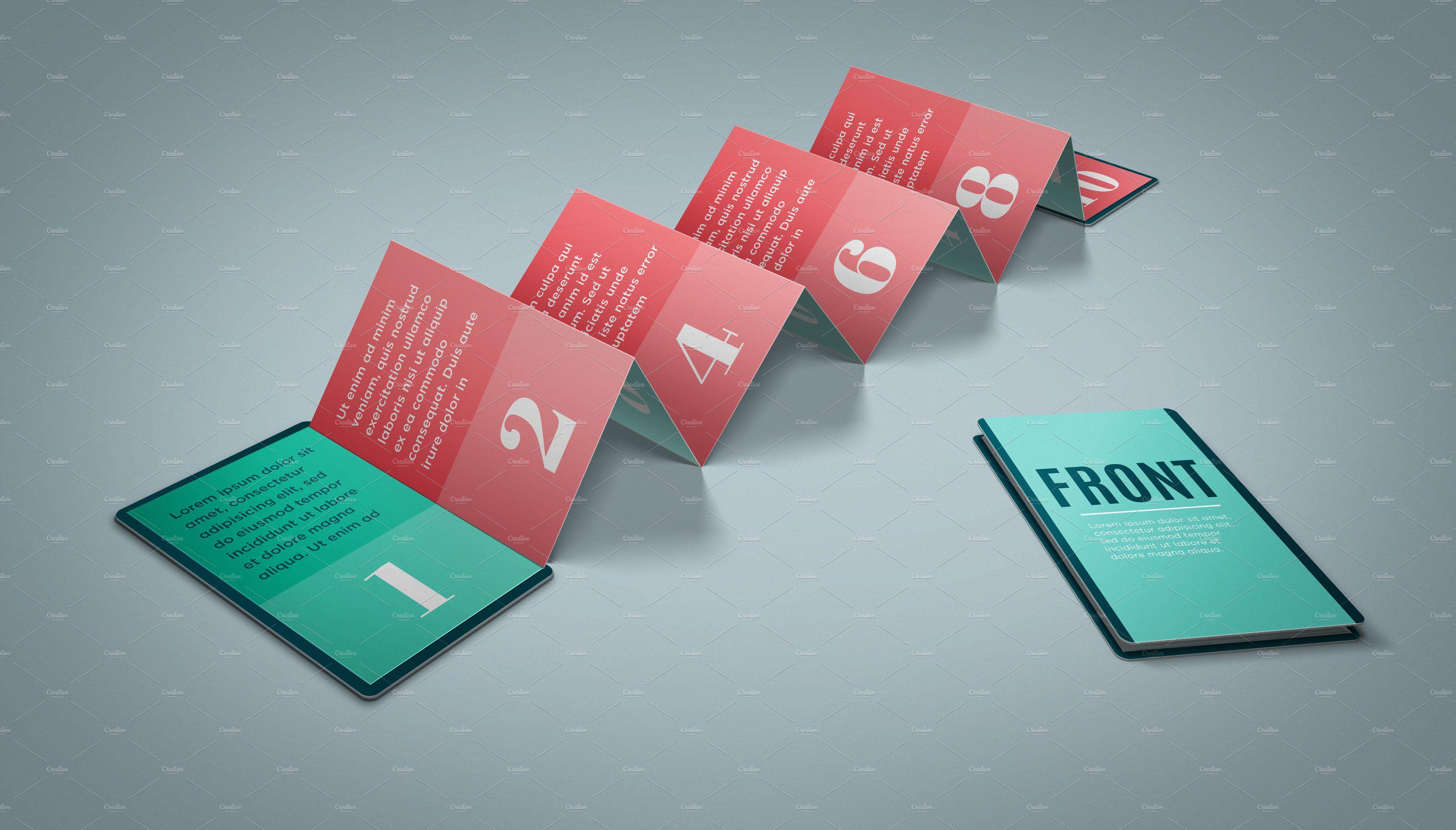 Z Card Mock Up 10 Panels C Fold Card Templates Free Card Template Valentine Card Template