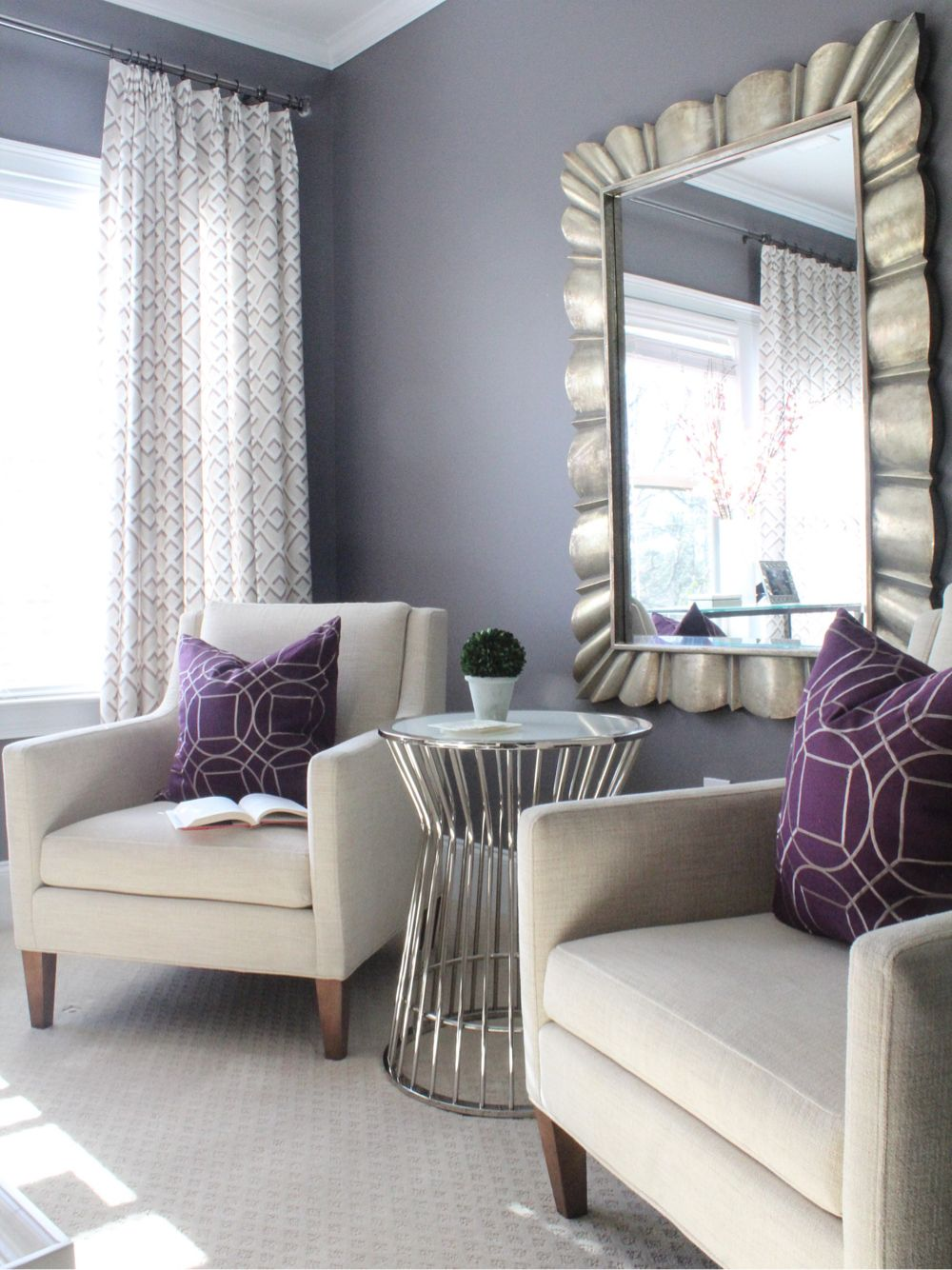 Sitting area in master suite by erika ward interiors - Small bedroom sitting area ...