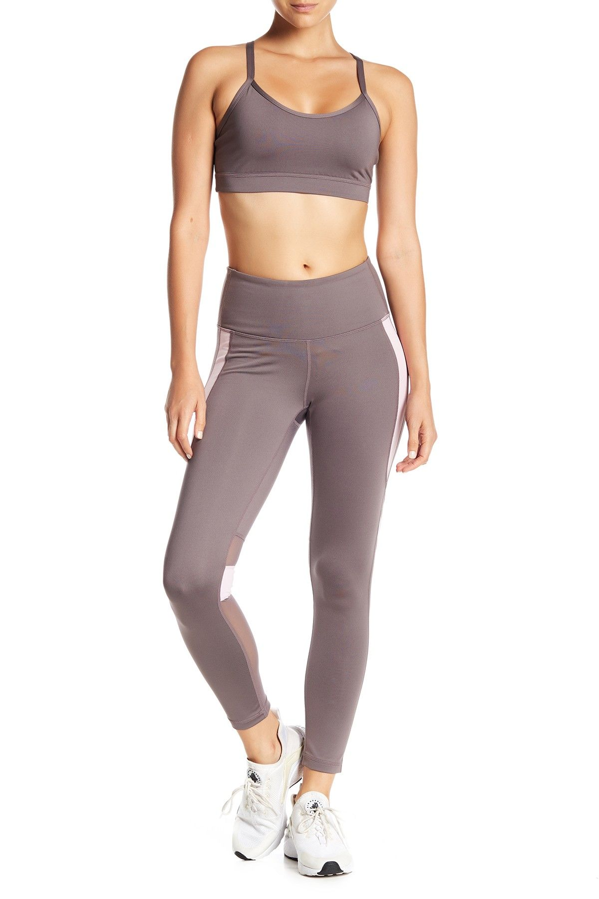 d98b0f19a6 Z By Zella - High Waisted Mesh Detailed Midi Leggings. Free Shipping on  orders over $100.