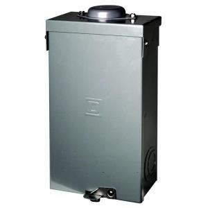 Square D Qo 100 Amp 2 Pole Outdoor Circuit Breaker Enclosure Qo2100bnrb Locker Storage Home Depot Breaker Box