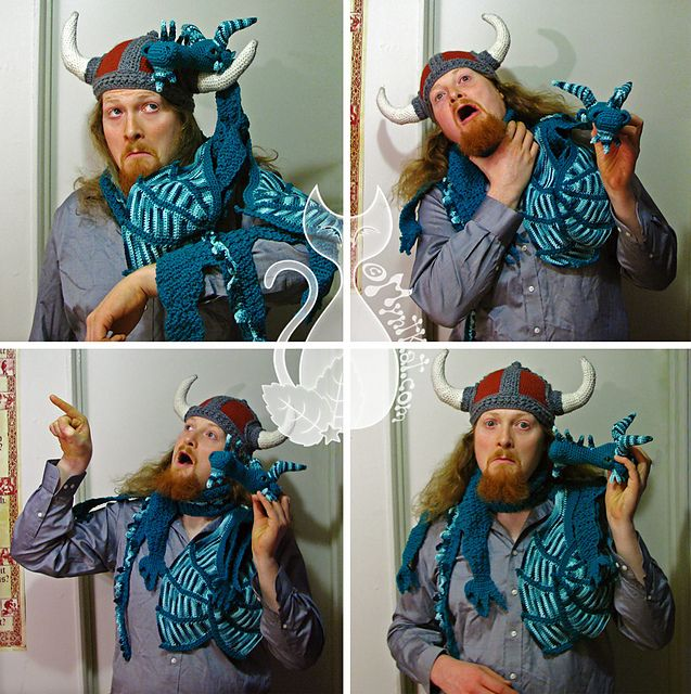 Ravelry: Dragon Scarf pattern by MyntKat....this would be awesome to have for the ren faire