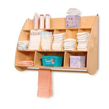 Newwave Wall Shelf Diaper Storage Diaper Organization Diaper Changing Station