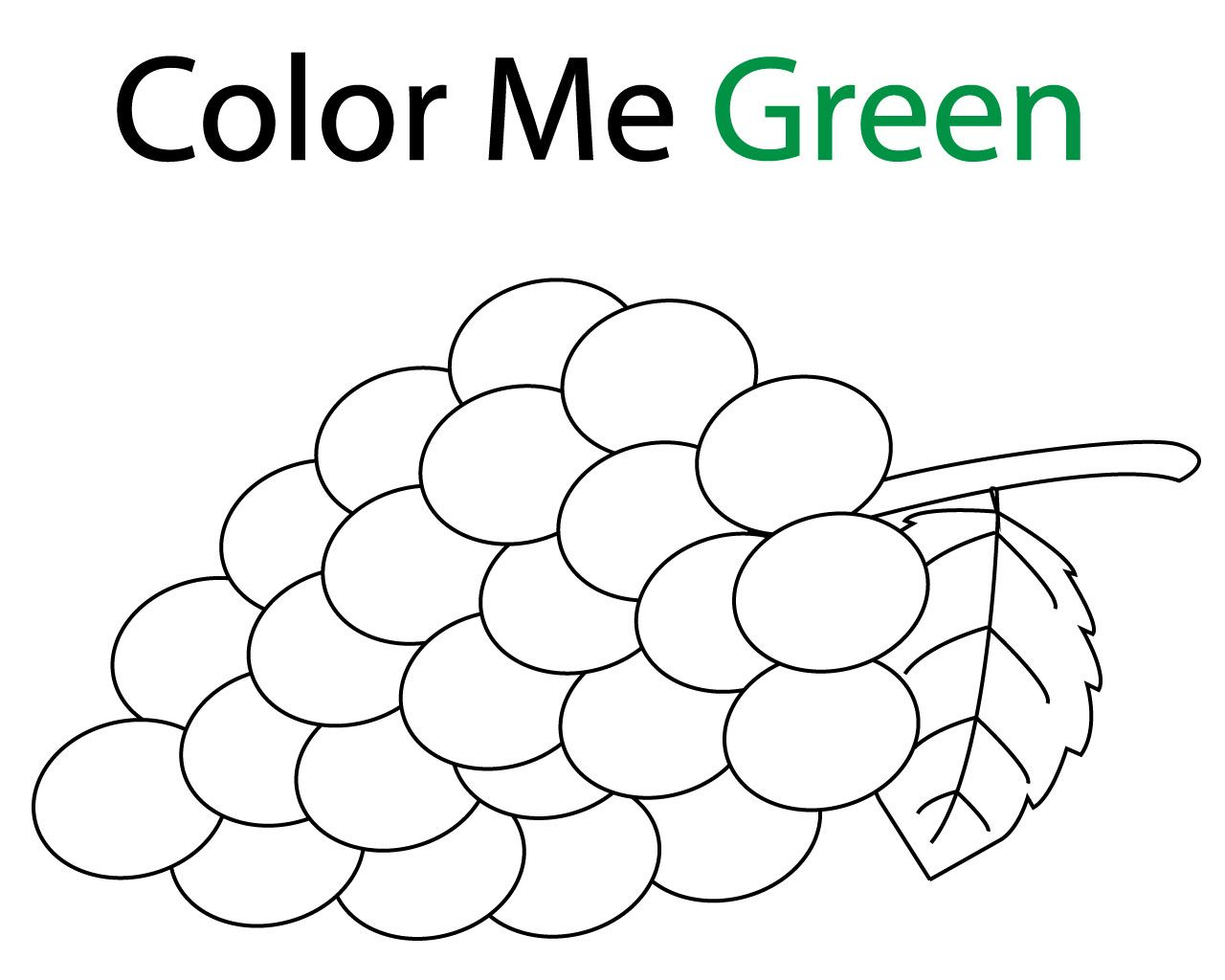Free Green Coloring Pages For Kids Coloring Pages Tree Coloring