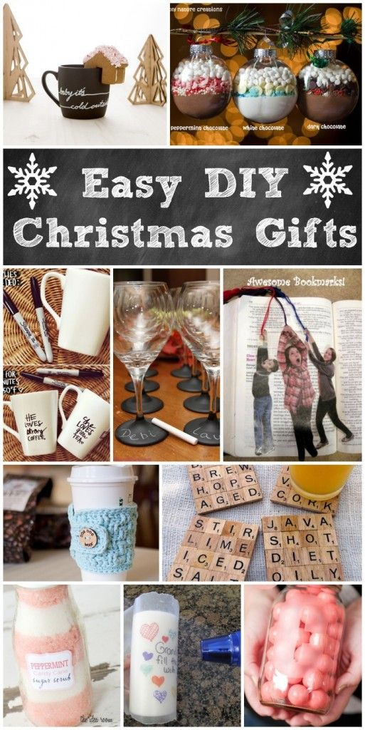 Easy Diy Christmas Gifts Homemade Holiday Gifts Easy Christmas Diy Diy Holiday Gifts