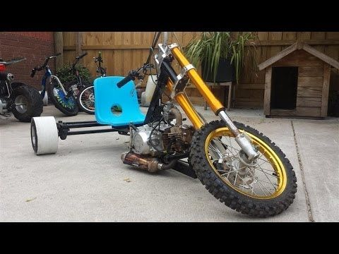 250cc 5spd motorized drift trike  110km/h - YouTube | Drift Trikes