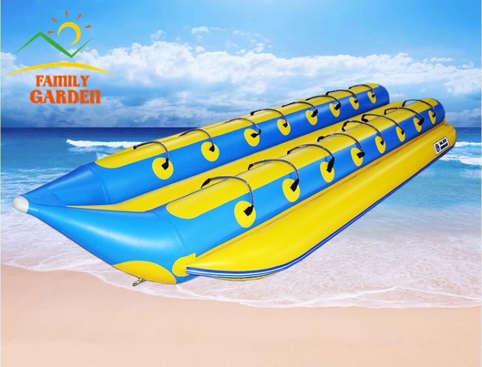 Inflatable 16 Person Towable Water Tubes Ski Flotation Tube Banana