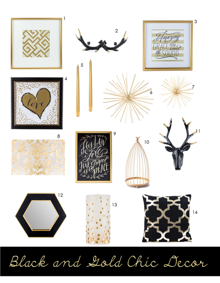 Loving These Black White And Gold Home Decor Pieces From Hobby Lobby Perfect
