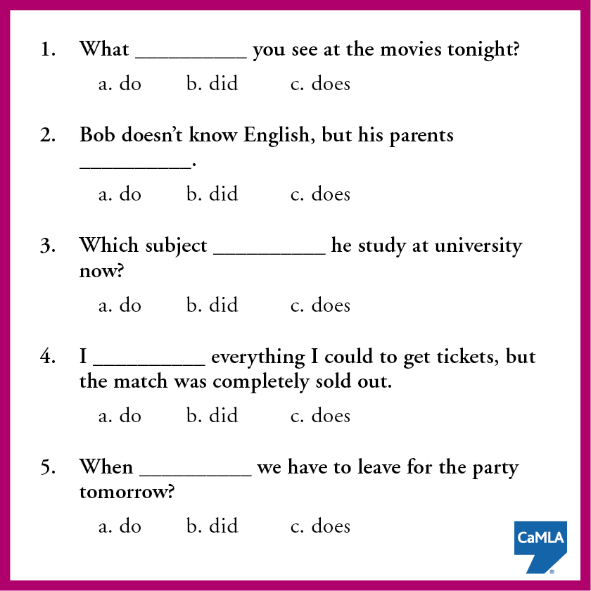 """The auxiliary verb """"do"""" is very important in English grammar. How ..."""