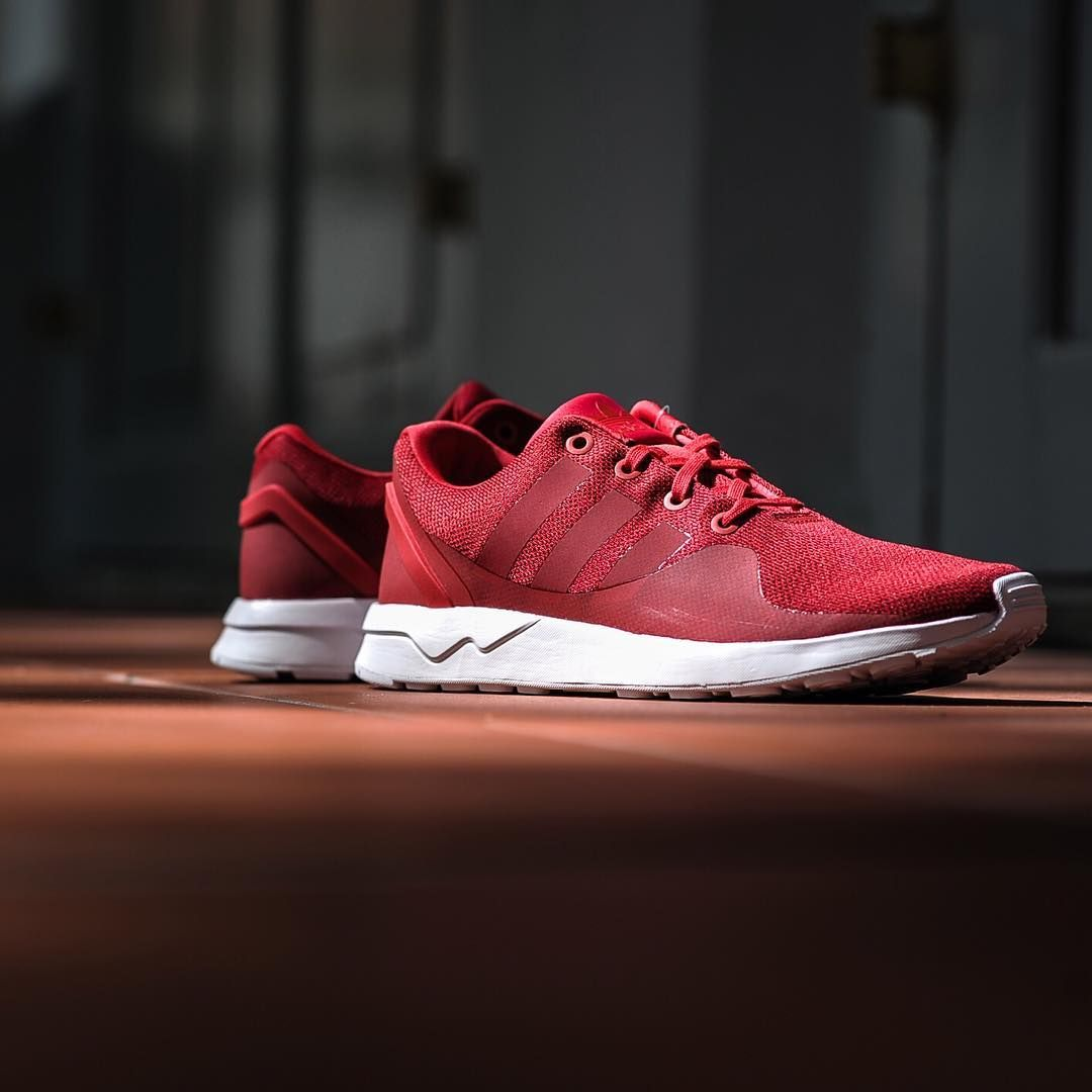 Unisex Adidas Flux October Breathable Running Color Shoes Casual Red Special Sale