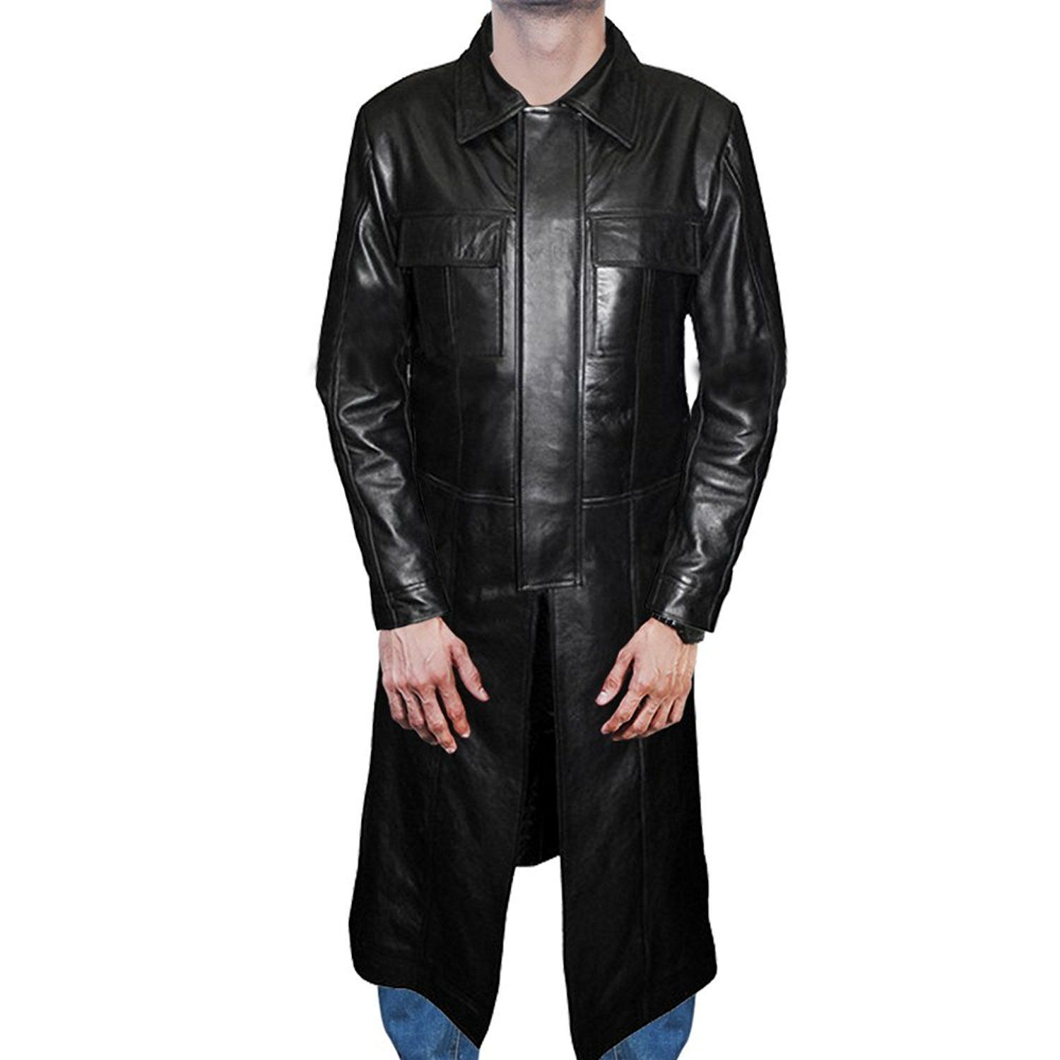 Stylish And Newly Designed Trench Leather Coat Inspired From The Movie The Punisher Carry By Thomas Jane As Frank Jackets Men Fashion Leather Coat Thomas Jane [ 1500 x 1500 Pixel ]