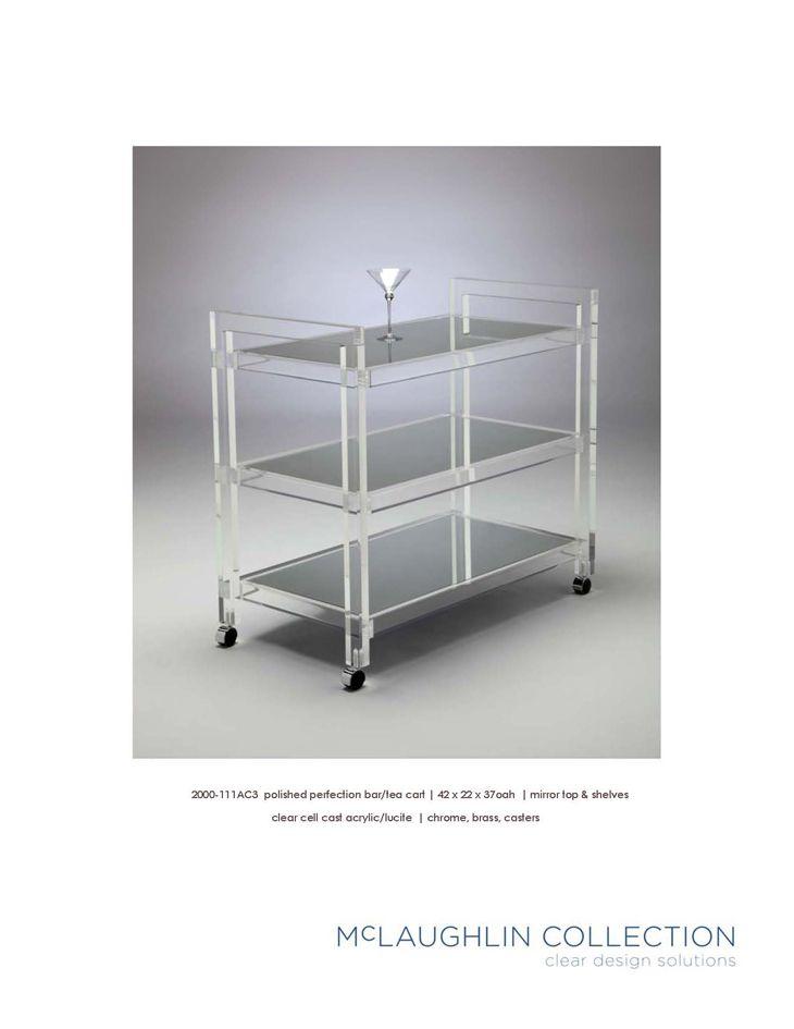McLaughlin Collection Acrylic Lucite Furniture Bar Carts