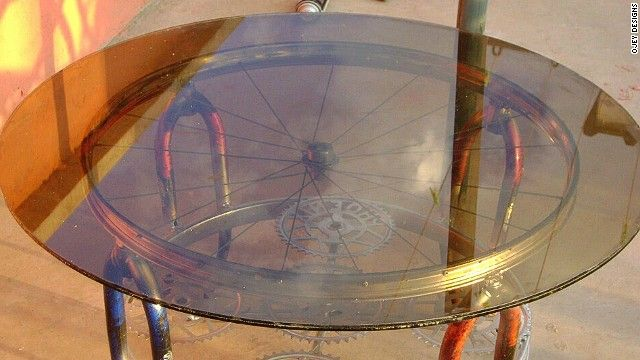 New Life For Old Wheels: Craftsmen Turn Bicycles Into Stylish Furniture