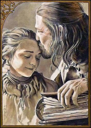 Arya and Ned Stark This breaks my heart