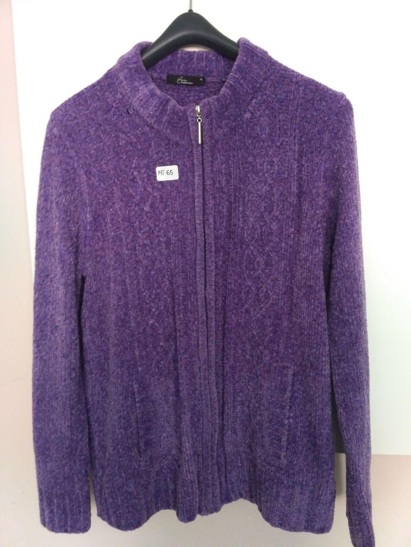 Sweterek Damski Rozpinany Fioletowy Rozm M L 7549750081 Oficjalne Archiwum Allegro Jackets Athletic Jacket Fashion
