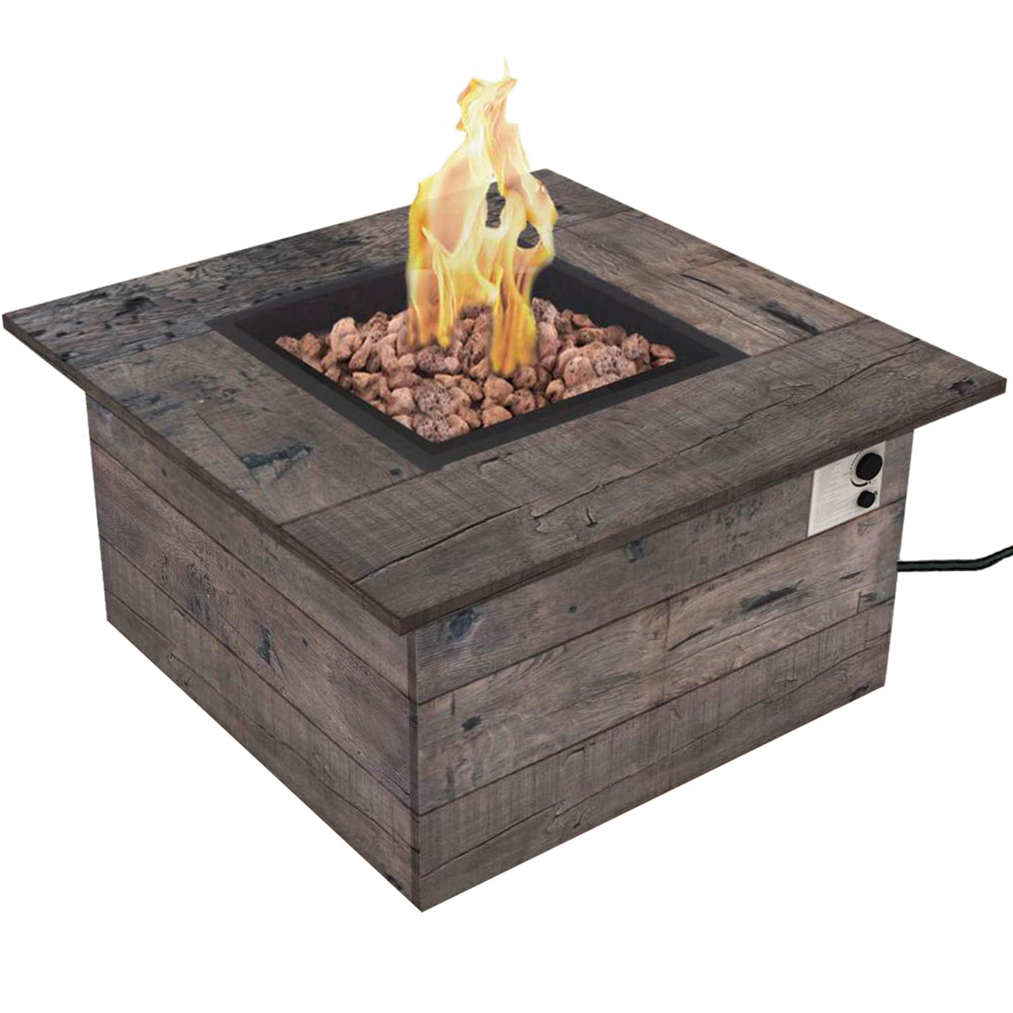 Bond Manufacturing Galleon Wood Propane Gas Fire Table