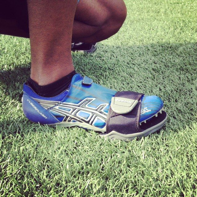 Save your spikes!  Track cleat guard, track spike cover, track spike protector www.spikease.com