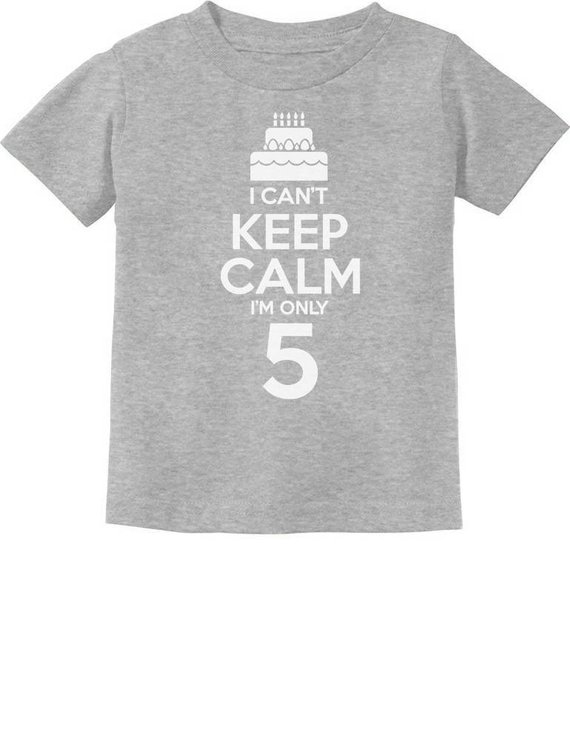 40da1e441 Birthday Cake - I Can't Keep Calm I'm 5 Children's Cute Toddler Kids T-Shirt