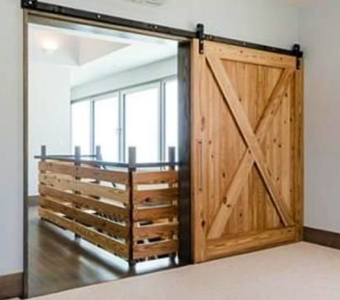 Awesome Barn Door For Loft Area Love Diy Barn Door Hardware Interior Barn Doors Barn Door