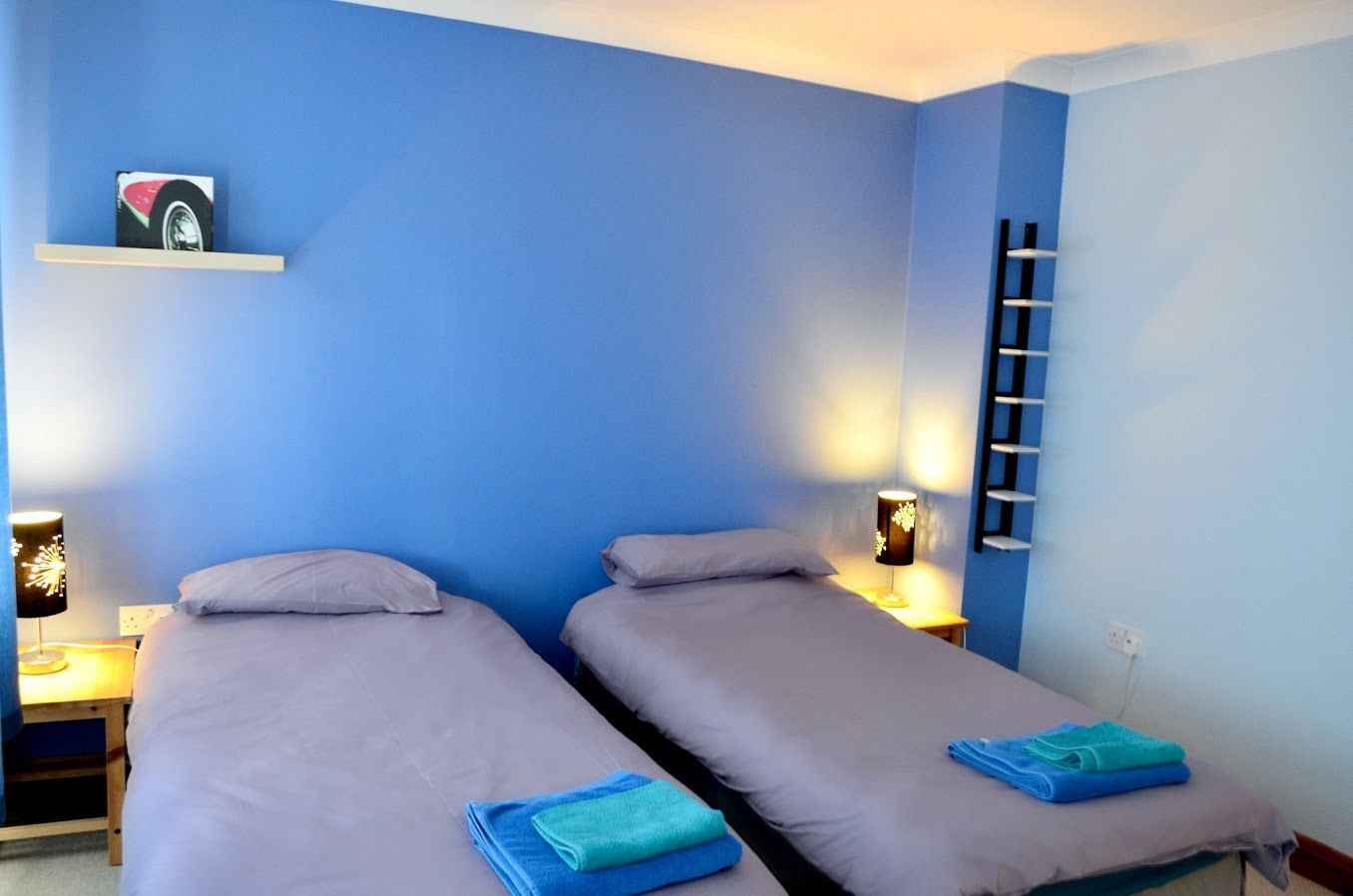 The #Blue Room at Dyffryn House can be made into a double prior to arrival.