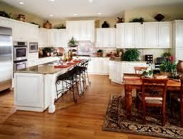 White Kitchen Cabinets Tan Walls Wood Floors Kitchen Colour