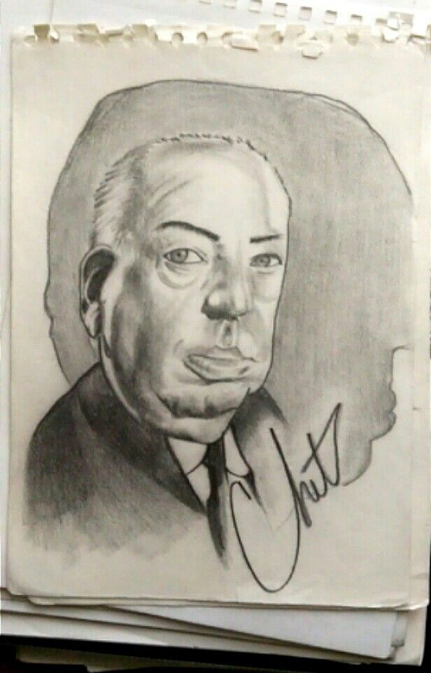 """""""ALFRED HITCHCOCK"""" portrait drawing"""