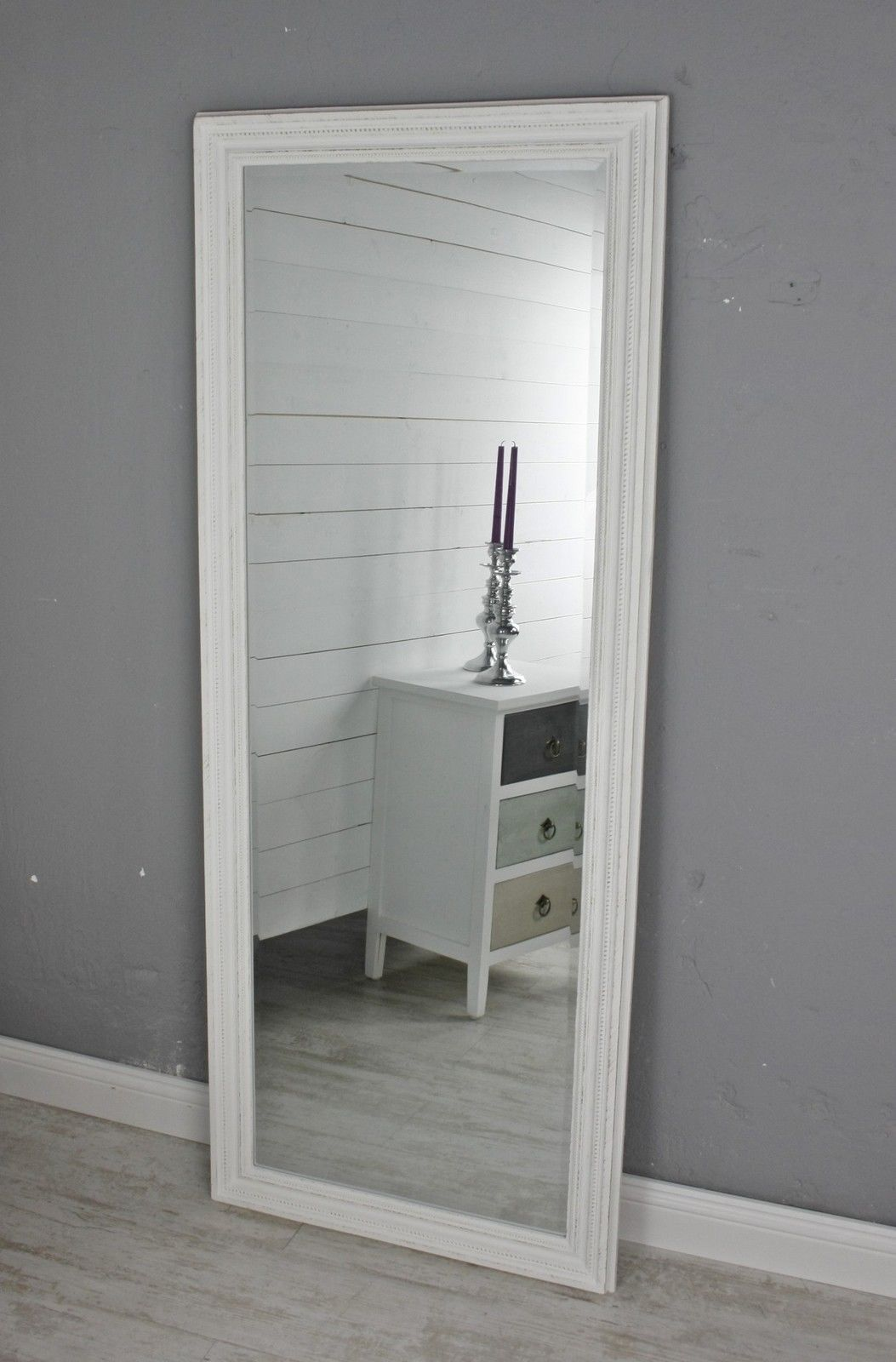 Spiegel Weiß Landhaus 150x60cm Holz Wandspiegel Barock Badspiegel  Standspiegel In Möbel U0026 Wohnen, Dekoration, Spiegel | EBay