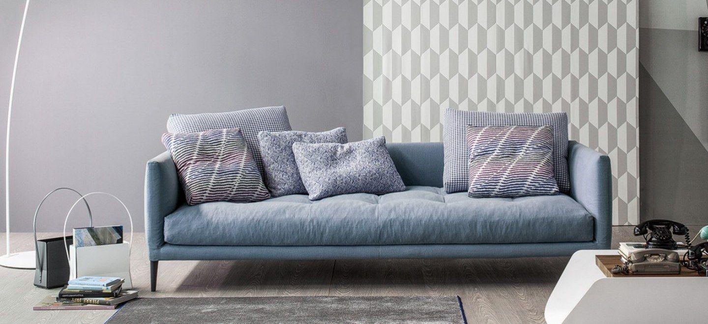 coral divano moderno in tessuto, 3 posti | bonaldo italy furniture