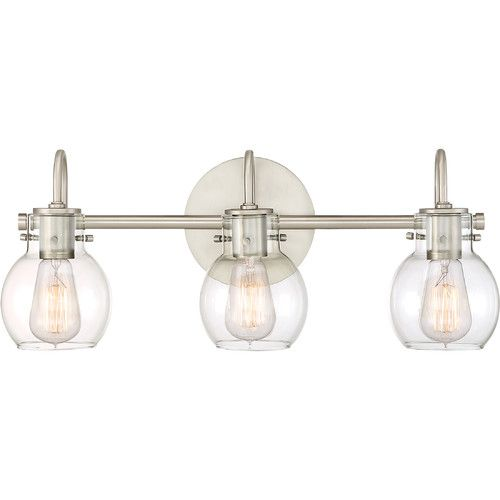 Massingham 3 Bulb Vanity Light Birchlane Bath Vanity Lighting Glass Vanity Quoizel