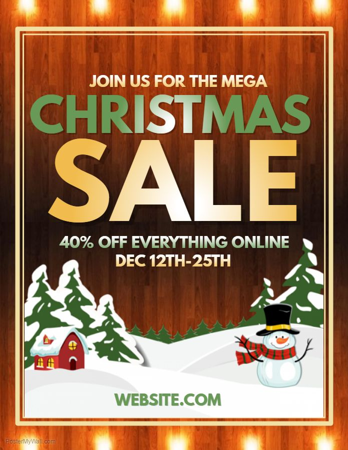 Christmas Retail Sale Flyer Template Poster Templates Free