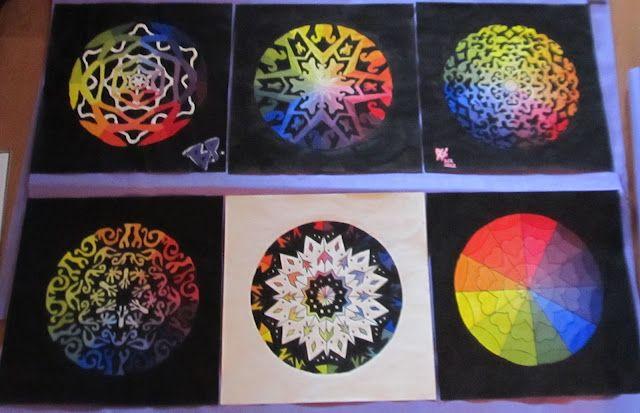 Complex Color Wheel High School Art Project Art Education