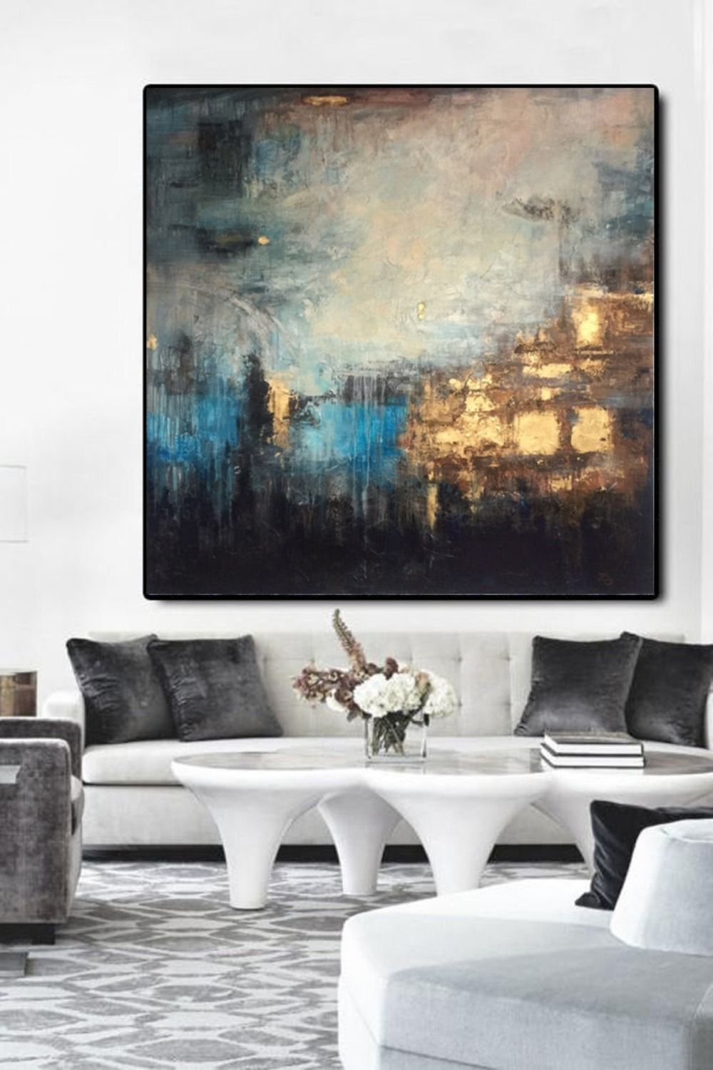 Abstract Painting Large Gold Painting Diamond Painting Thick ...