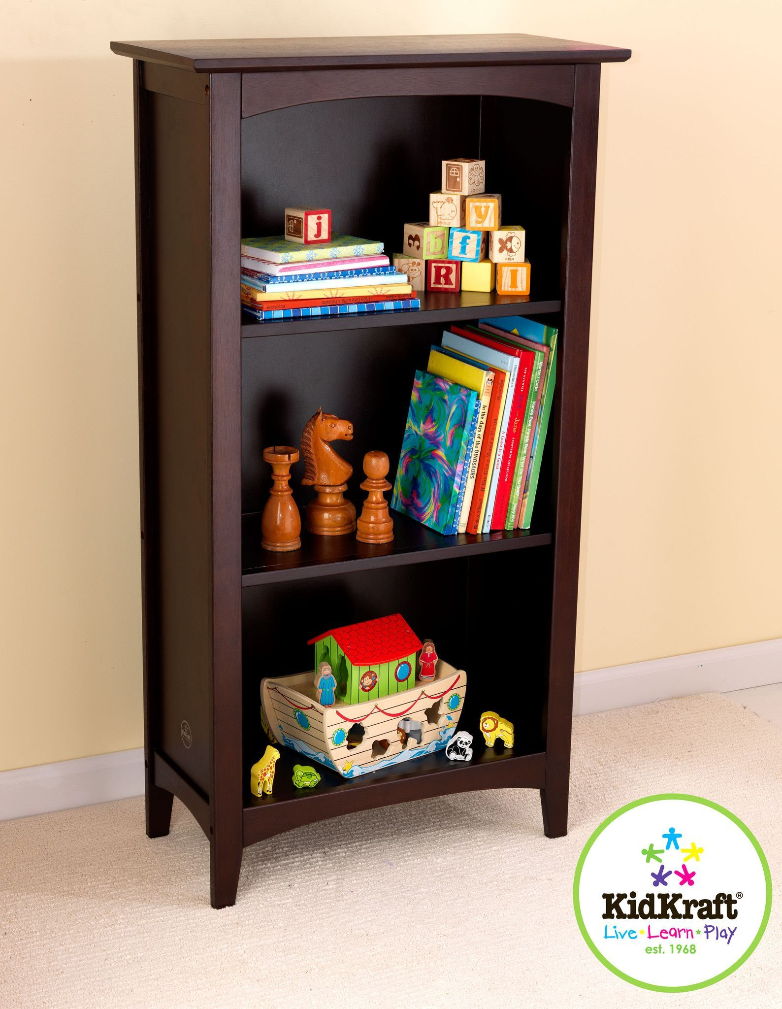 Kid Kraft Avalon Tall Bookshelf Espresso