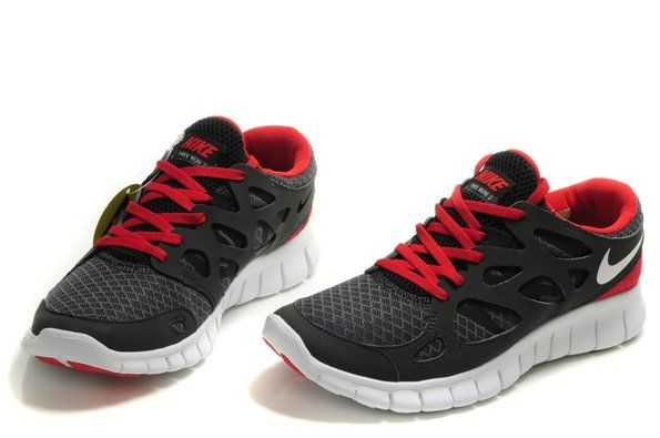 nike free run 2 red and black