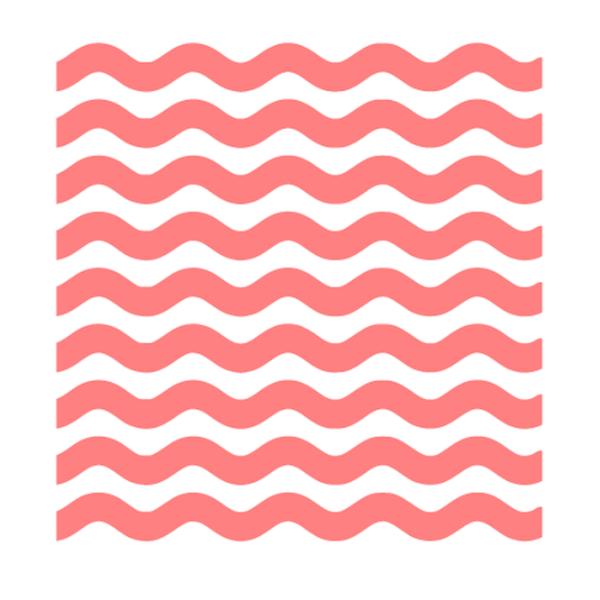 Thick Wavy Lines Pattern Stencil Line Patterns Pattern Stencils