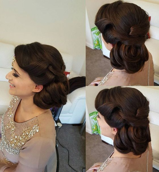 Indian Wedding Hairstyles For Indian Brides Up Dos Braids Loose Curls Indian Bridal Hairstyles Hair Styles Indian Hairstyles