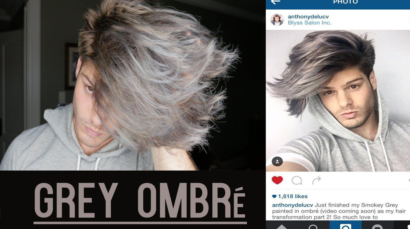 Men S Hair Transformation Grey Balayage Ombre Tutorial Anthony Deluca Hair Transformation Mens Hair Colour Gray Balayage