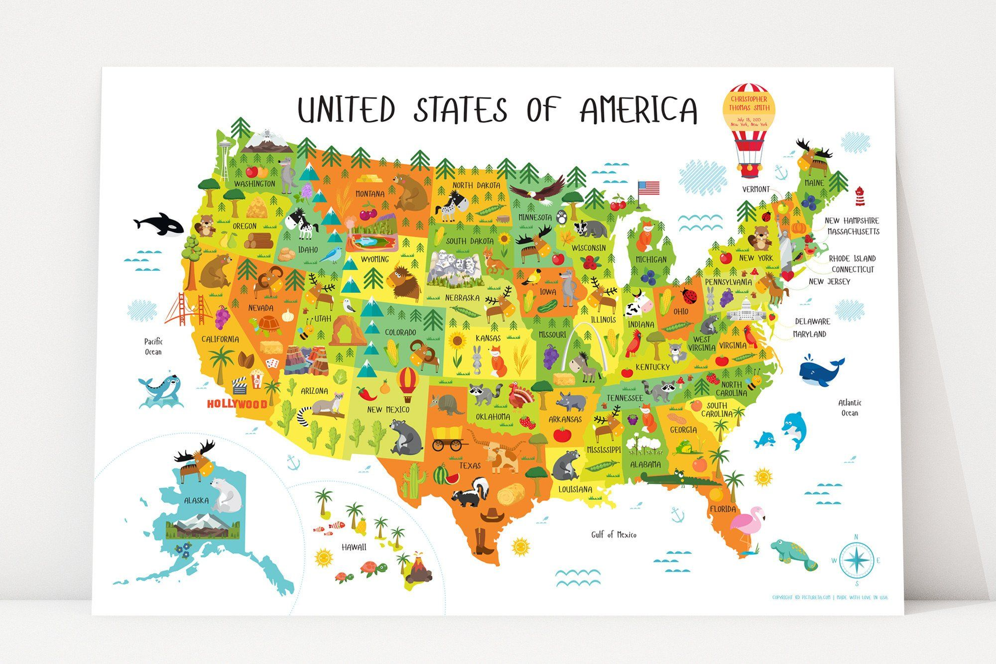 Usa Map For Kids Maps For Kids United States Map 50