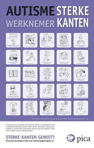 Iets Nieuws autisme : Poster Autisme Sterke kanten - werknemer | What inspires @EZ54