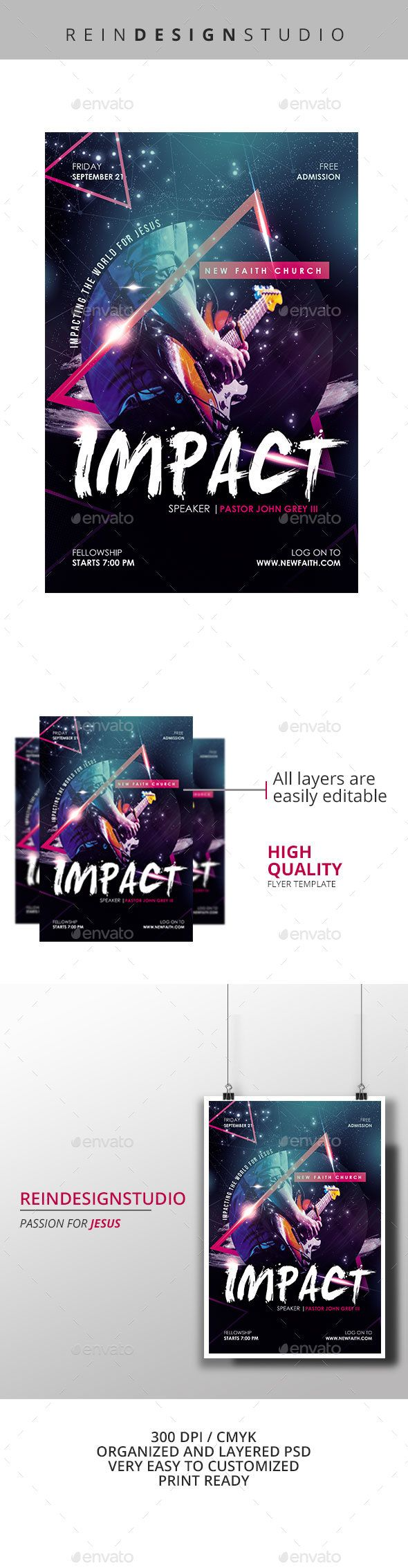 impact church flyer by reindesignstudio impact church flyera great
