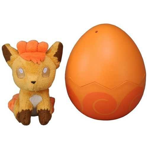Pokemon 2013 Vulpix Takara Tomy Baby Plush Toy In Egg