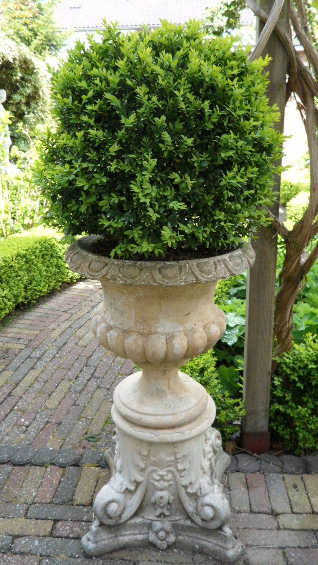 ornament in planter urn outdoor tall garden white pin urns and roman planters