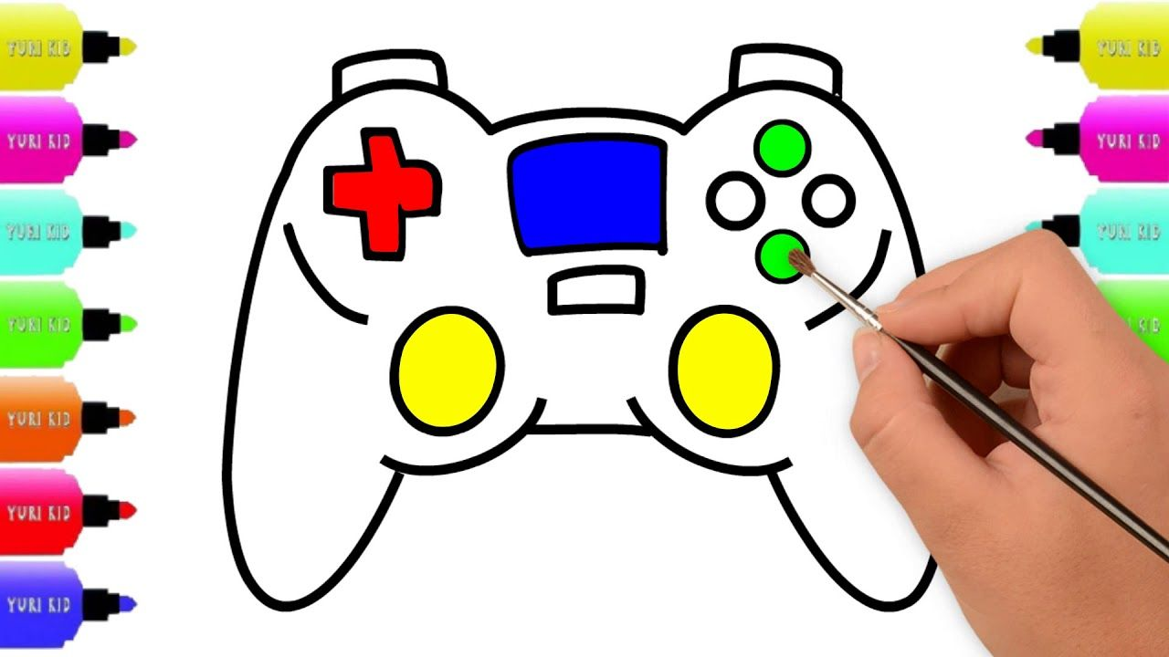 Game Controller Drawing For Kids Drawing A Joystick
