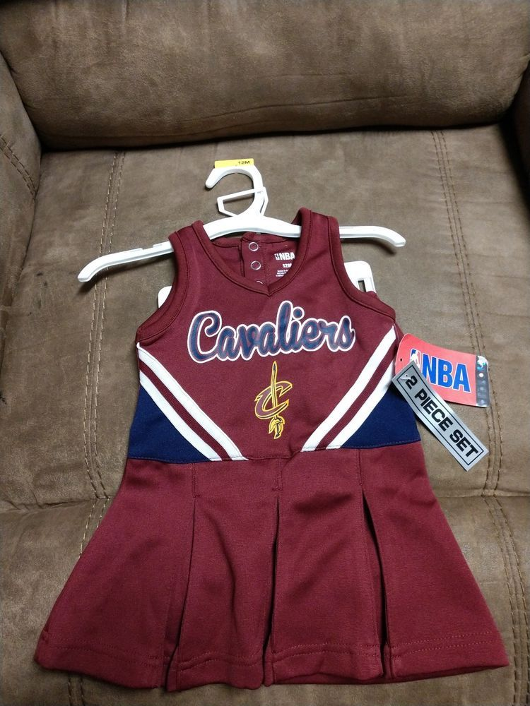 check out af6a2 b63da NBA Cleveland Cavaliers Baby Dress Cheerleader Outfit 12 ...