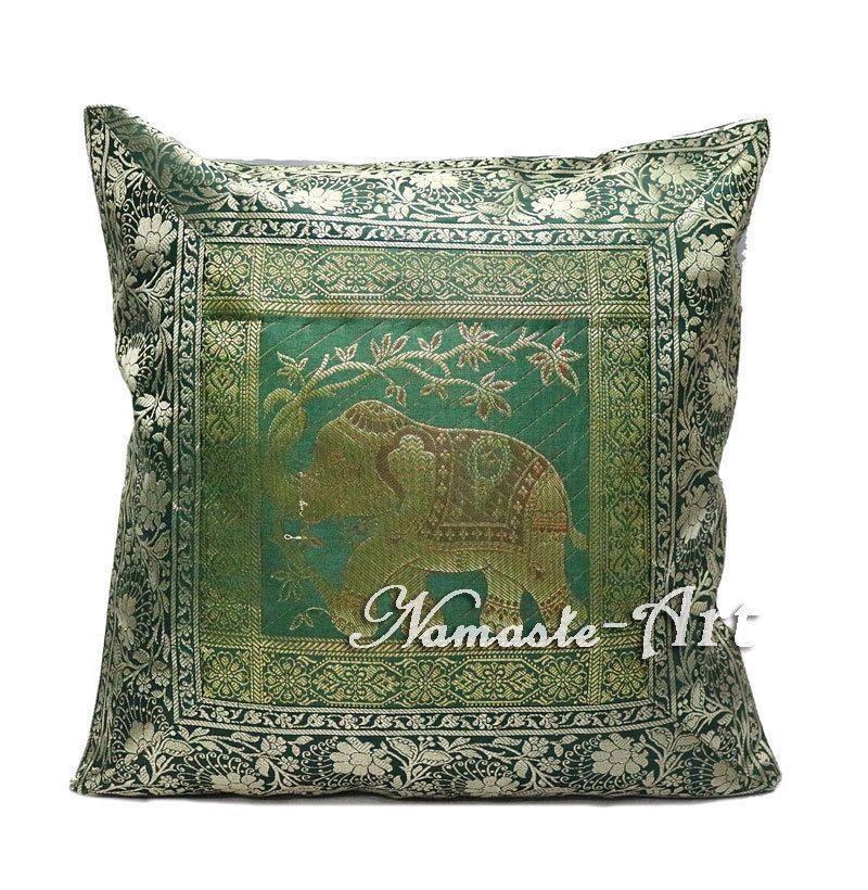 40'' Indian Silk Decorative Brocade Art Throw Ethnic Boho Cushion Mesmerizing Indian Silk Decorative Pillows